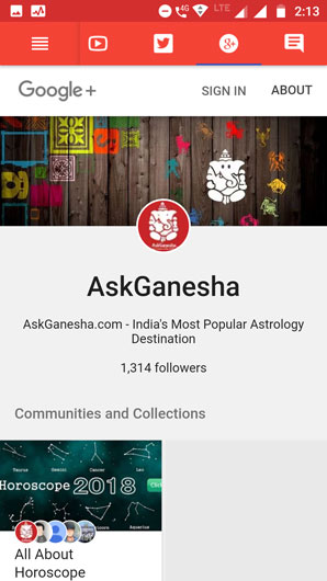 AskGanesha on Google Plus